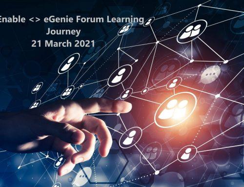 SG Enable  eGenie Forum Learning Journey